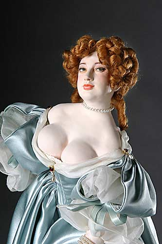 Portrait length color image of Nell Gwynne aka. Eleanor Gwyn, by George Stuart.