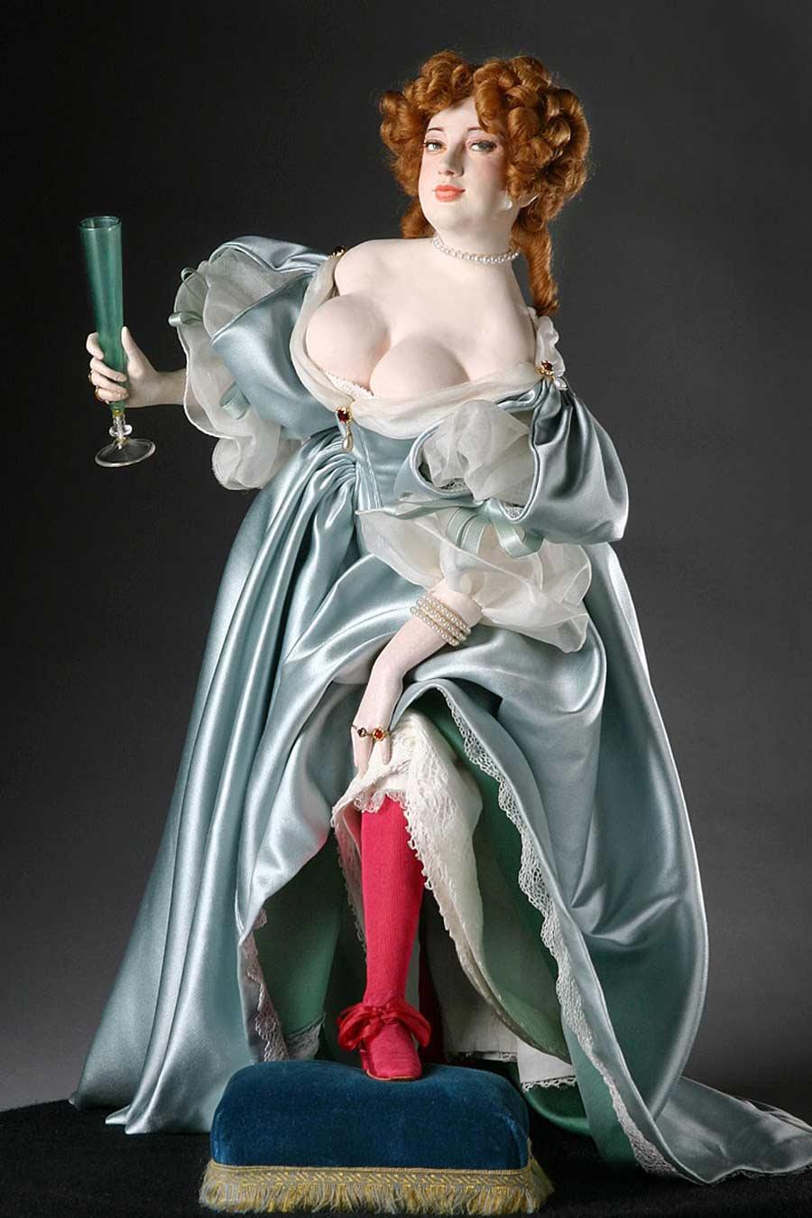Full length color image of Nell Gwynne aka. Eleanor Gwyn, by George Stuart.