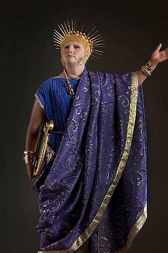 Portrait length color image of Emperor Nero aka.