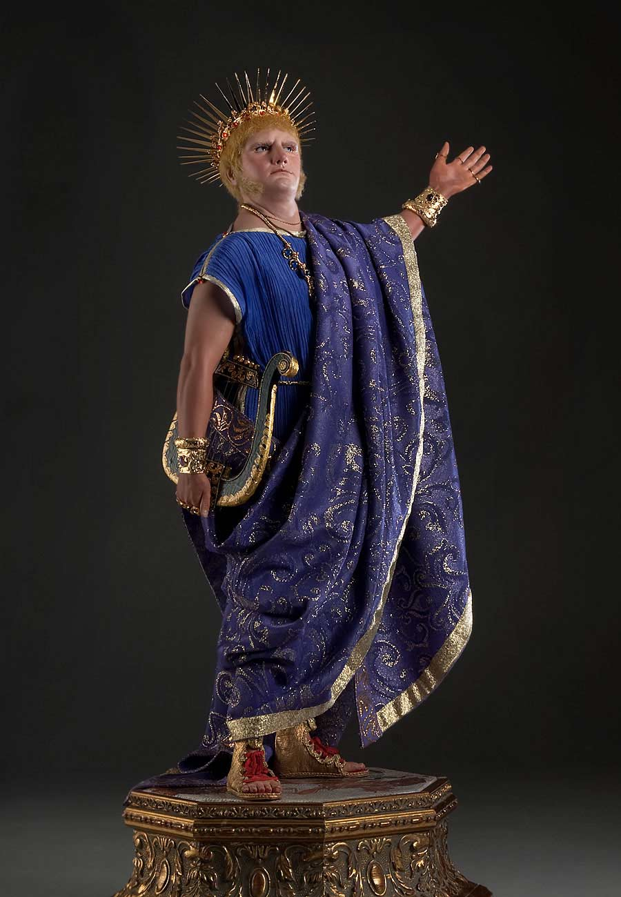 Full length color image of Emperor Nero aka.