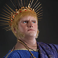Left close up color image of Emperor Nero aka.