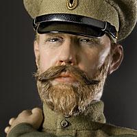 Left close up color image of Tsar Nicholas II  aka. Николай II Николай , by George Stuart.