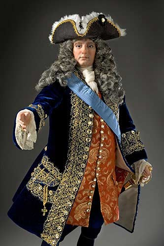 Portrait length color image of Philippe II Duke of Orleans, Regent aka. Philippe d'Orléans , by George Stuart.