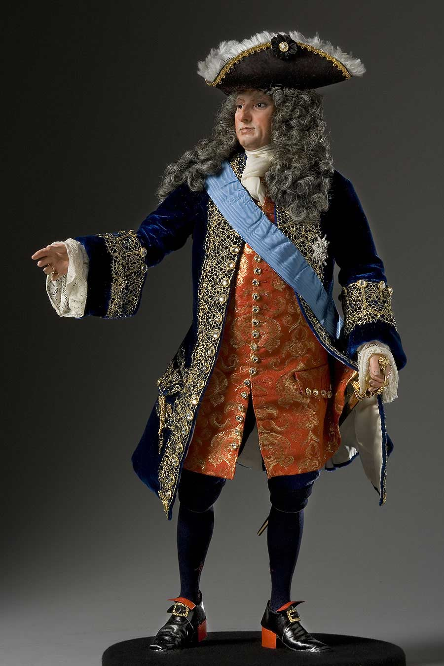 Full length color image of Philippe II Duke of Orleans, Regent aka. Philippe d'Orléans , by George Stuart.