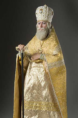 Portrait length color image of Patriarch Philaret aka. Фео́дор Ники́тич Рома́нов, by George Stuart.