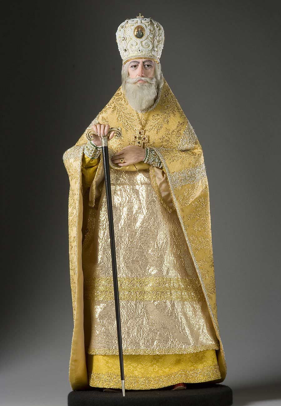Full length color image of Patriarch Philaret aka. Фео́дор Ники́тич Рома́нов, by George Stuart.