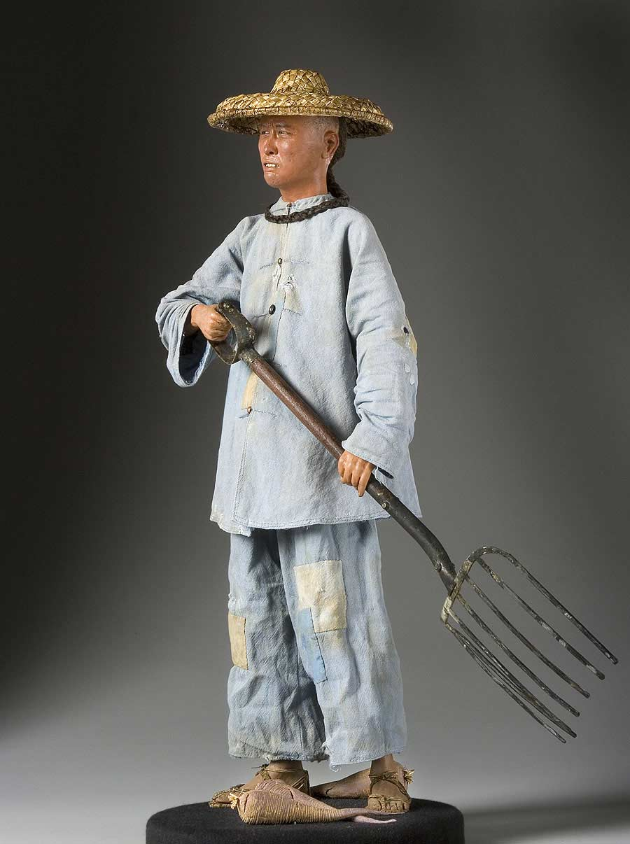 Full length color image of Peasant aka. Chinese, by George Stuart.