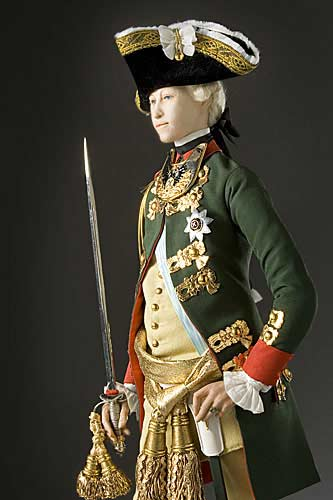 Portrait length color image of Peter III of Russia aka. Пётр III Фëдорович, by George Stuart.