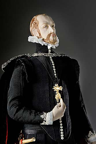 Portrait length color image of Philip II  aka. Philip II of Spain Felipe II, by George Stuart.