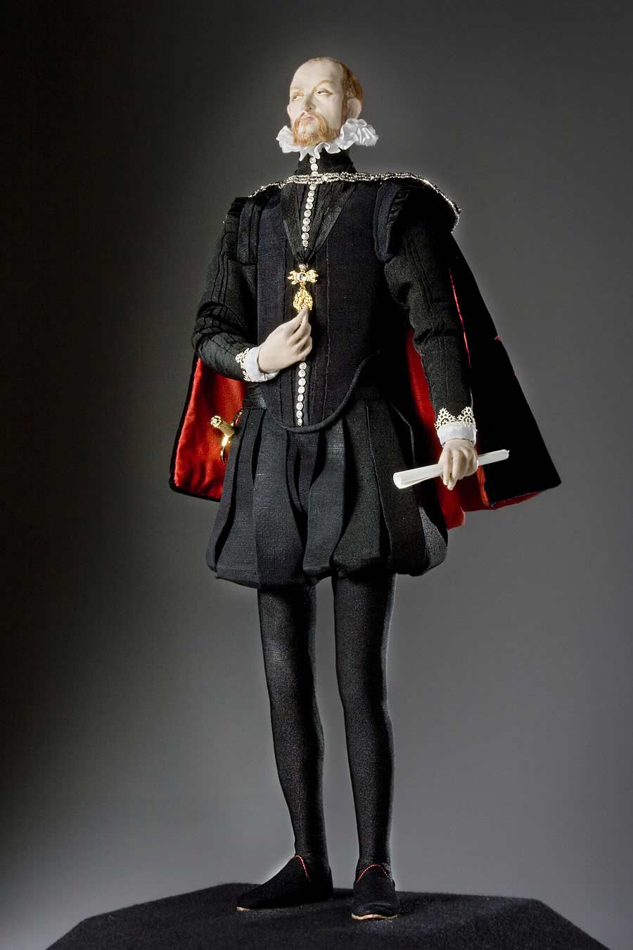 Full length color image of Philip II  aka. Philip II of Spain Felipe II, by George Stuart.