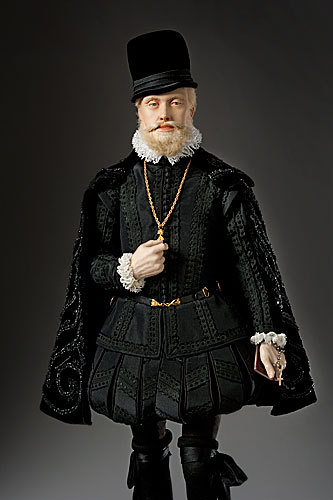 Portrait length color image of Phillip II aka.