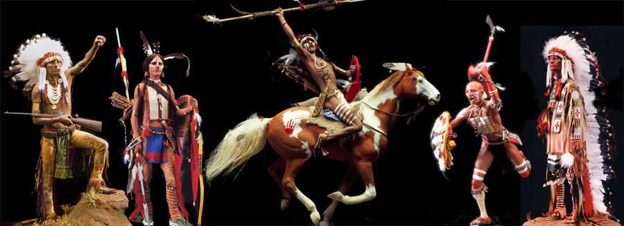 Native Americans: Comanche, Sioux and Lakota braves and chiefs