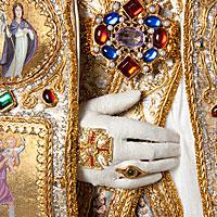 Left close up color image of Pope Alexander VI 1492 aka. Roderic Llançol, by George Stuart.