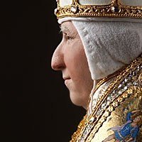 Right closup color image of Pope Alexander VI 1492 aka. Roderic Llançol, by George Stuart.
