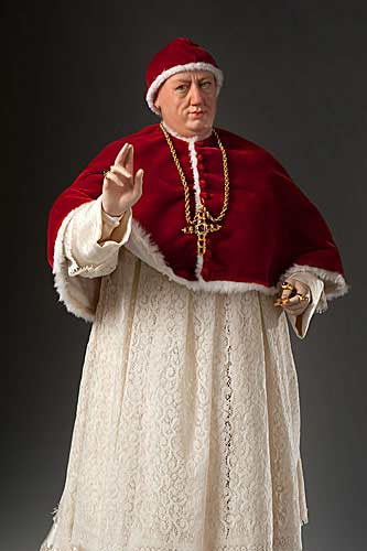Portrait length color image of Pope Leo X aka.