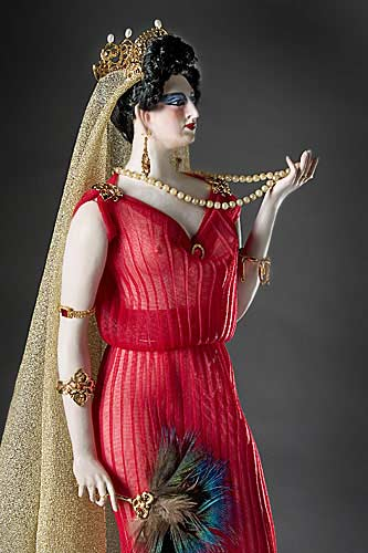 Portrait length color image of Poppaea Sabina aka. Wife of Nero, by George Stuart.