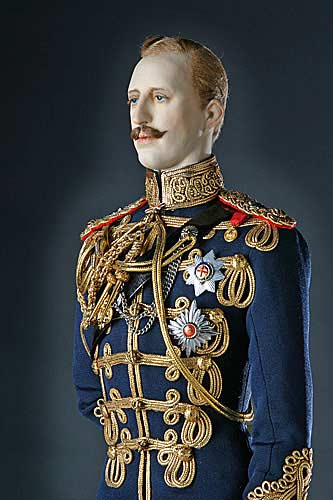 Portrait length color image of Prince Albert Victor aka. Duke of Clarence and Avondale, by George Stuart.