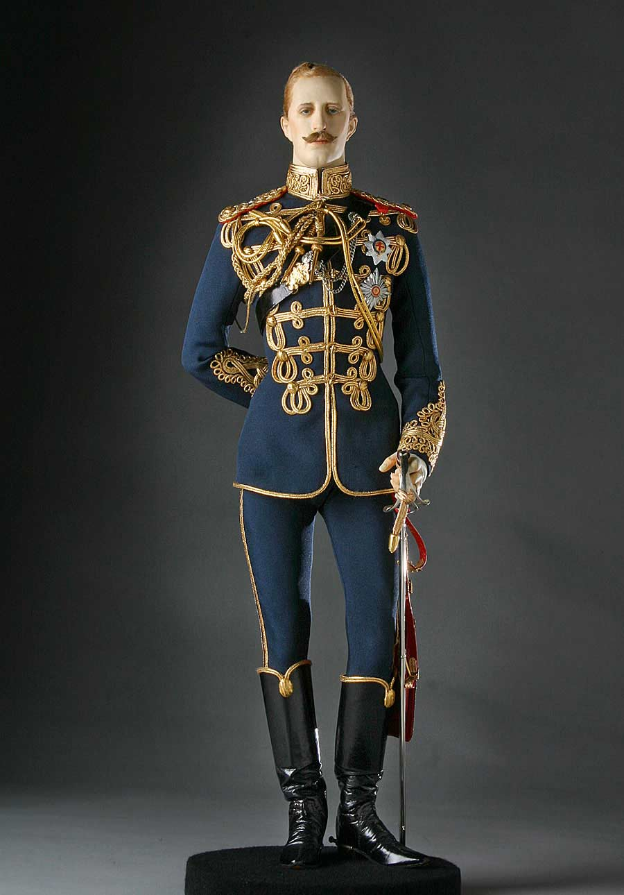 Full length color image of Prince Albert Victor aka. Duke of Clarence and Avondale, by George Stuart.