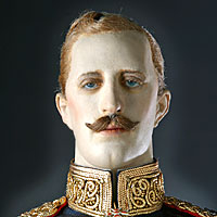 Left close up color image of Prince Albert Victor aka. Duke of Clarence and Avondale, by George Stuart.