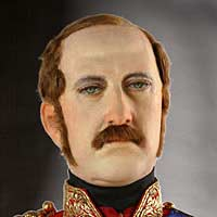 Left close up color image of Prince Albert aka. Albert of Saxe-Coburg and Gotha, by George Stuart.