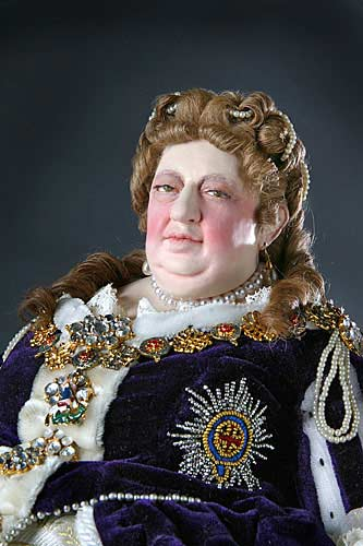 Portrait length color image of Queen Anne aka. Queen of Great Britain and Ireland, by George Stuart.