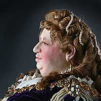 Right closup color image of Queen Anne aka. Queen of Great Britain and Ireland, by George Stuart.