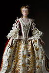 Thumbnail color image of Queen Charlotte Sophia  1761 aka. Charlotte Sophia of Mecklenburg-Strelitz, by George Stuart.