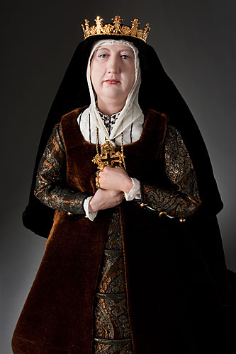 Portrait length color image of Queen Isabella 1478 aka.