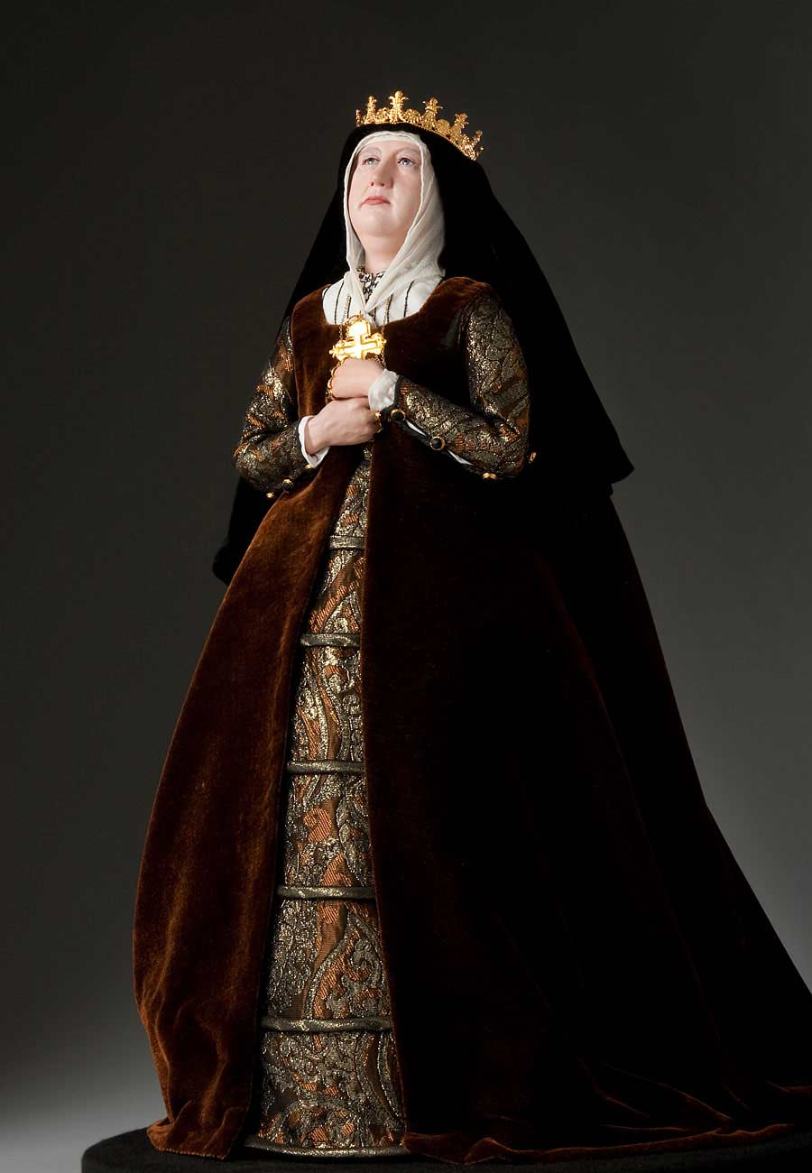 Full length color image of Queen Isabella 1478 aka.