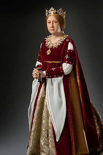 Portrait length color image of Queen Isabella 1492 aka.