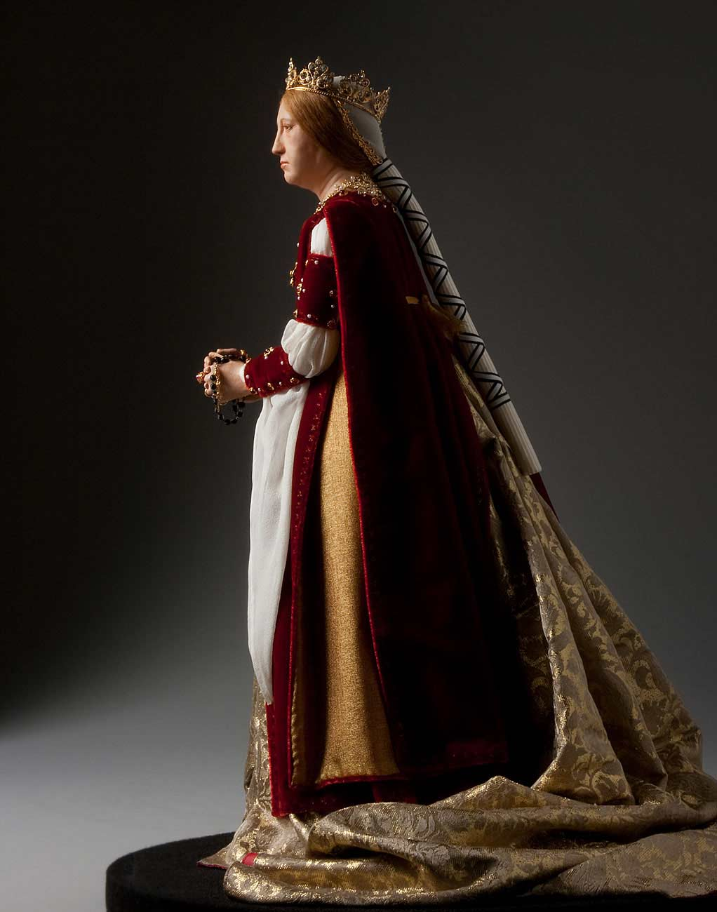 Full length color image of Queen Isabella 1492 aka.