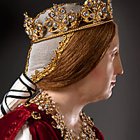 Left close up color image of Queen Isabella 1492 aka.