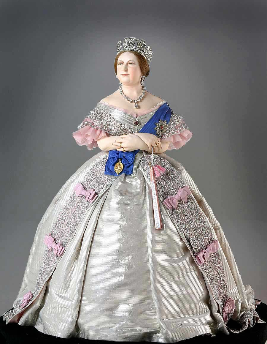 Full length color image of Queen Victoria 1860 aka.