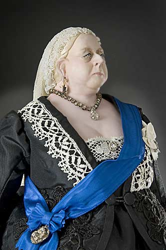 Portrait length color image of Queen Victoria 1900 (v1) aka. Widow of Windsor, by George Stuart.
