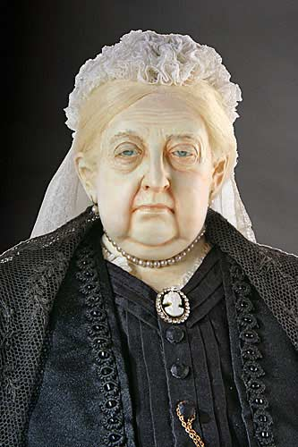 Portrait length color image of Queen Victoria 1900 aka. Empress of India, by George Stuart.