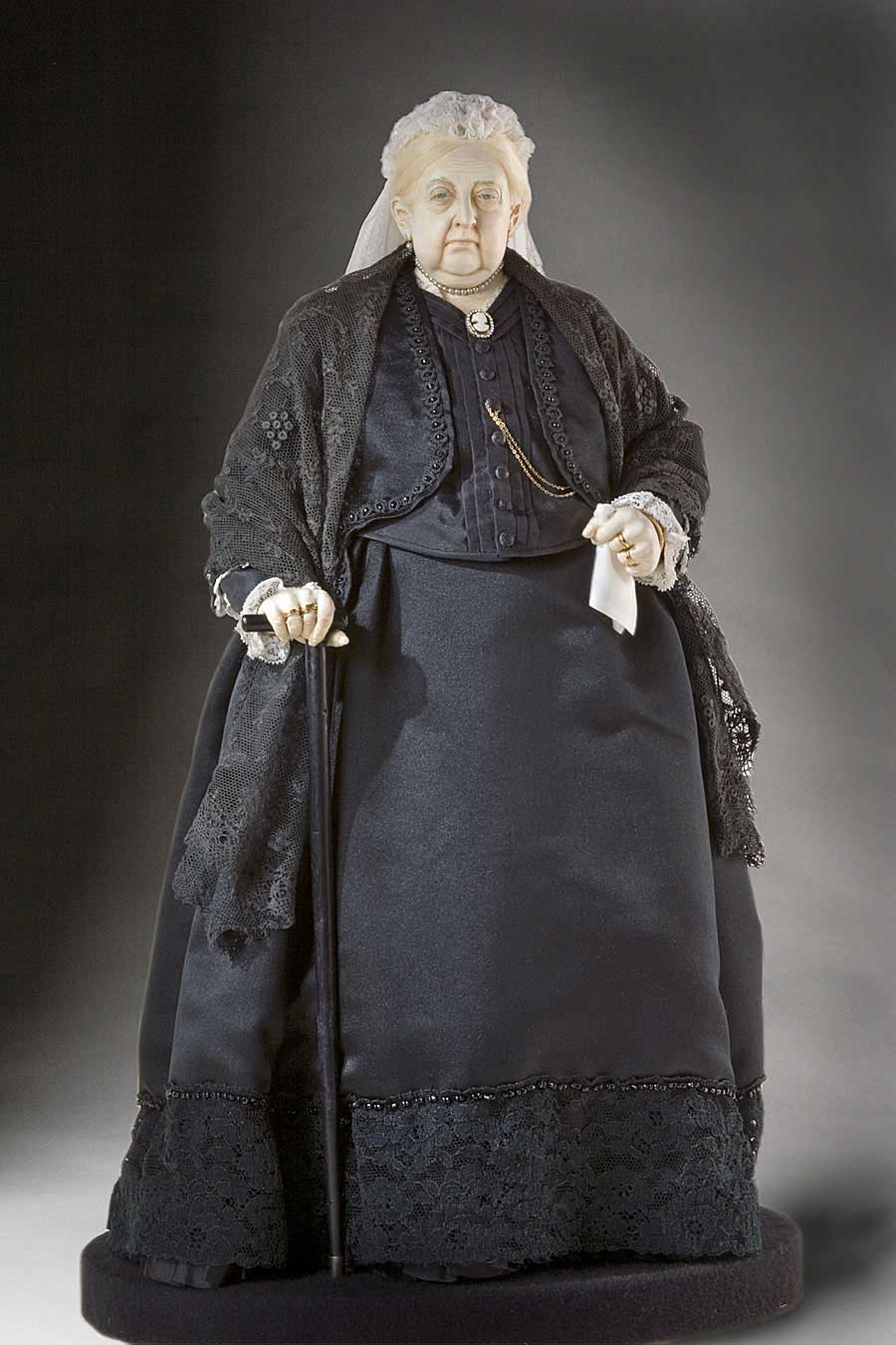 Full length color image of Queen Victoria 1900 aka. Empress of India, by George Stuart.