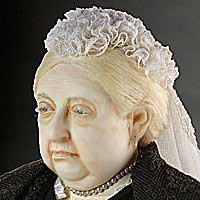 Right closup color image of Queen Victoria 1900 aka. Empress of India, by George Stuart.