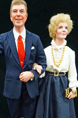 Ronald and Nancy Reagan figure by George Stuart