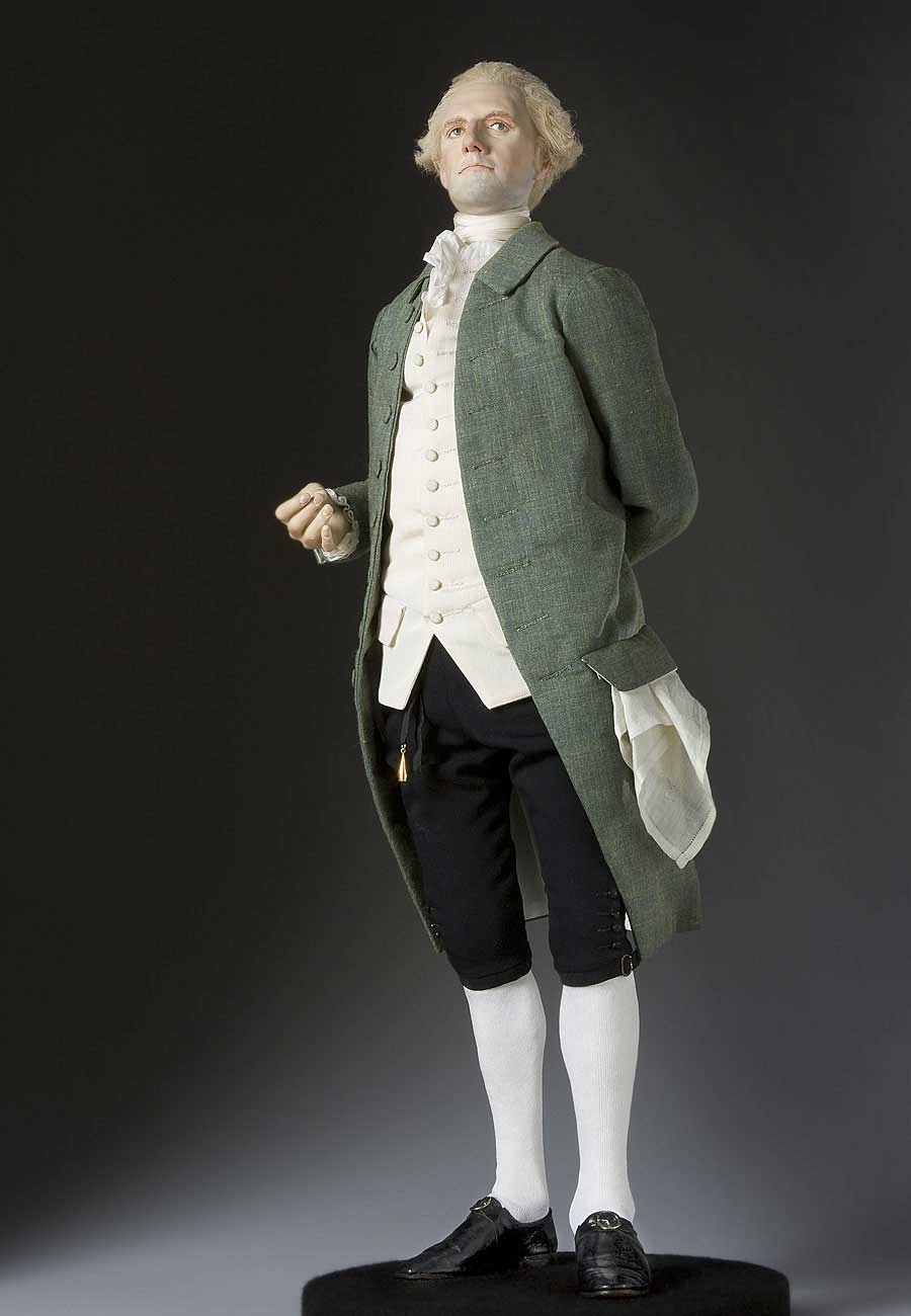 Full length color image of Richard Henry Lee, by George Stuart.