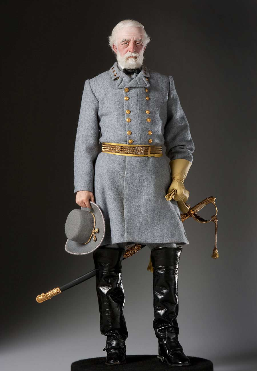 Full length color image of Robert E. Lee aka.