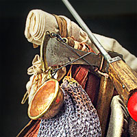 Left close up color image of Roman Legionary  aka. Marius' Mule, by George Stuart.