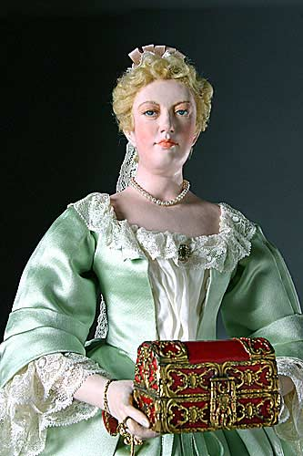 Portrait length color image of Sarah Churchill Duchess Marlborough aka. Sarah Jennings, by George Stuart.