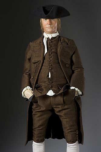 Portrait length color image of Samuel Adams aka.