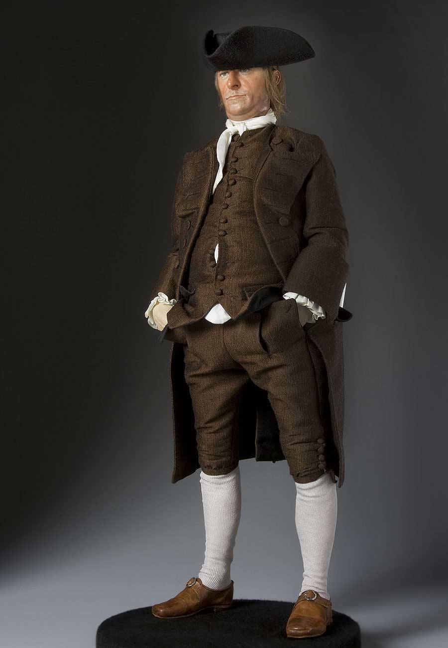 Full length color image of Samuel Adams aka.