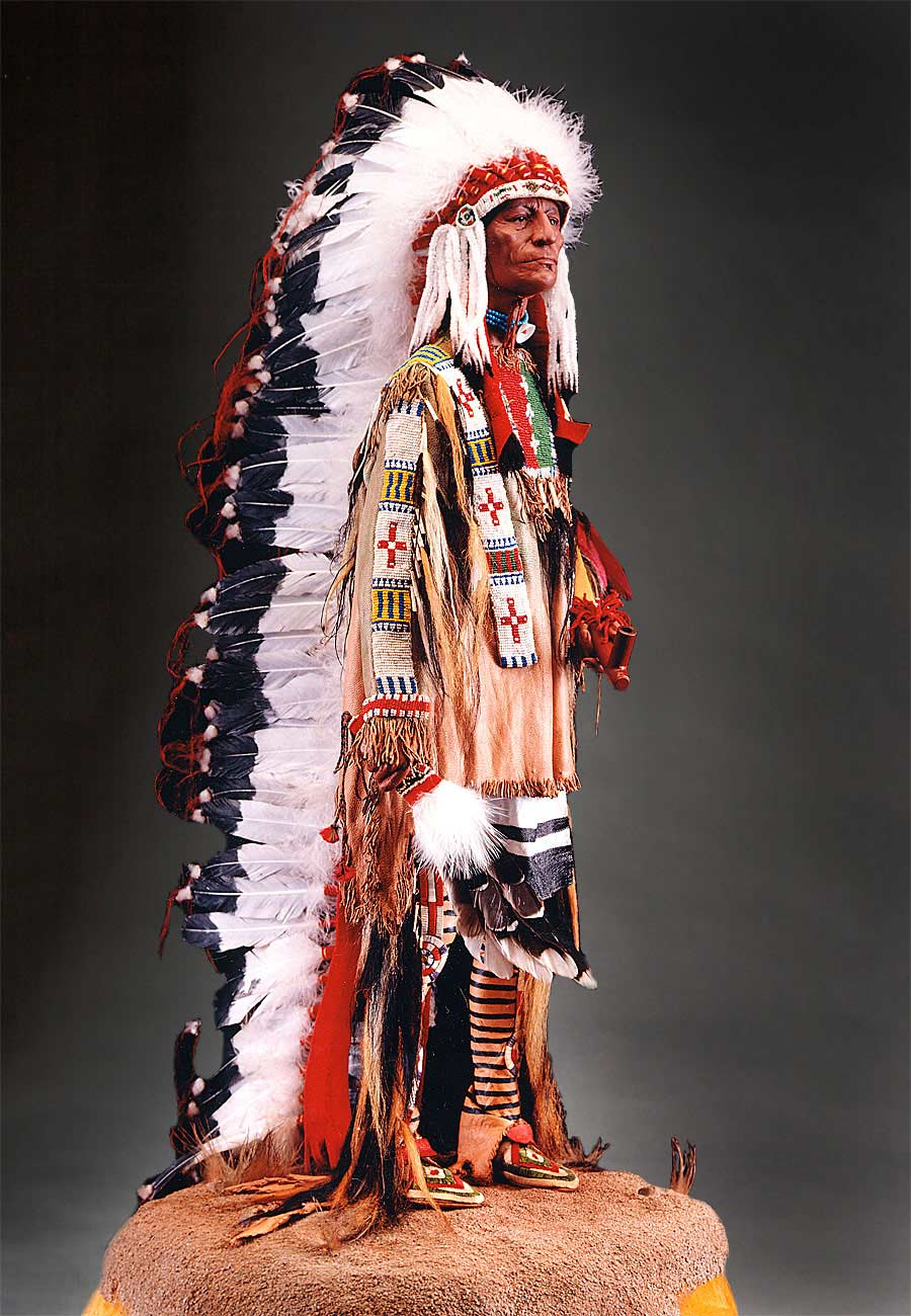 Full length color image of Sioux Chief, by George Stuart.