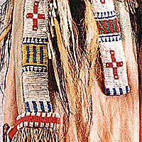 Left close up color image of Sioux Chief, by George Stuart.