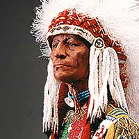 Right closup color image of Sioux Chief, by George Stuart.