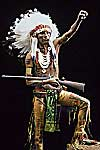 American History, Peoples of the Americas Group represented by Sioux Warrior
