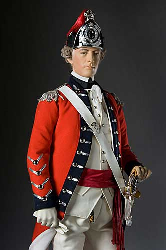 Portrait length color image of General John Burgoyne aka. Gentleman Johnny, by George Stuart.