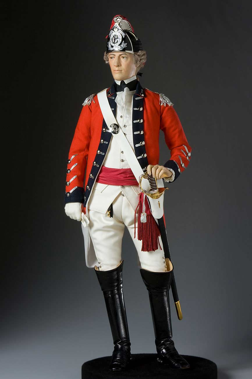 Full length color image of General John Burgoyne aka.